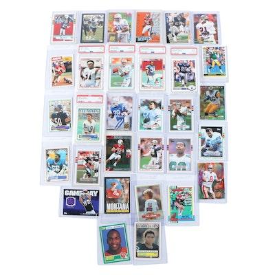 1980-2000s Football PSA Graded Rookie Cards, Emmitt Smith, Dan Marino and More