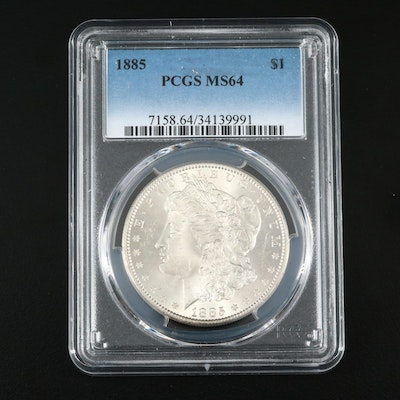 PCGS Graded MS64 1885 Silver Morgan Dollar