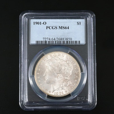 PCGS Graded MS64 1901-O Silver Morgan Dollar