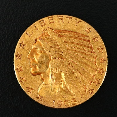 First Year of Issue 1908 Indian Head $5 Gold Coin