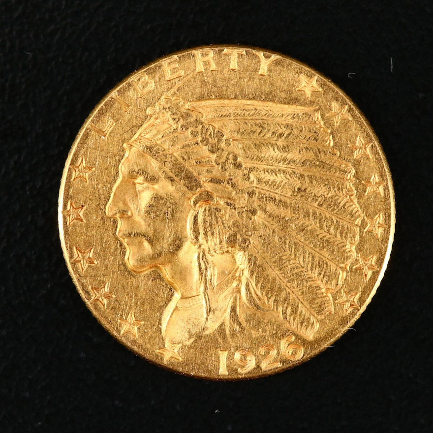 1926 Indian Head $2 1/2 Gold Coin