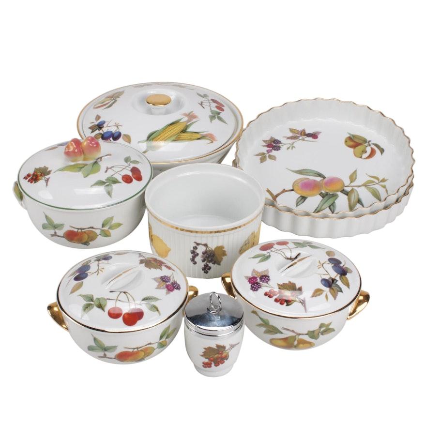 """Royal Worcester """"Evesham"""" Porcelain Bakeware"""
