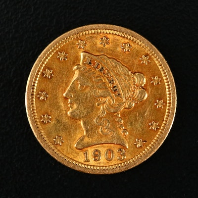 1903 Liberty Head $2 1/2 Gold Coin