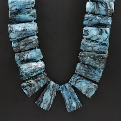 Sterling Silver Adjustable Quartz Necklace