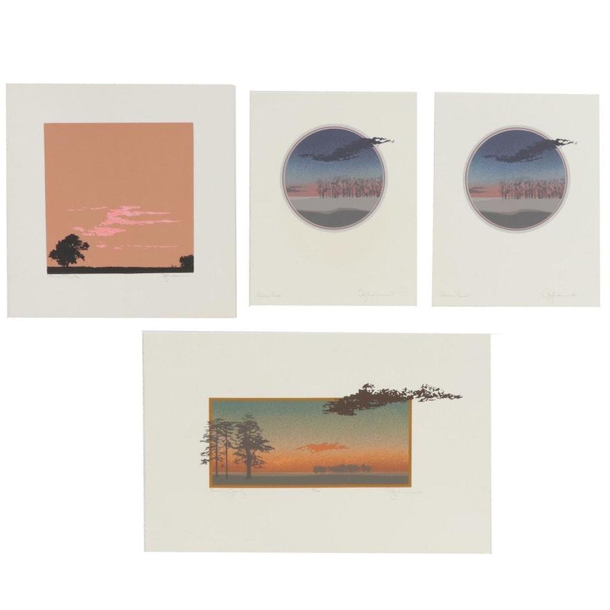 Oren S. Johnson Landscape Serigraphs