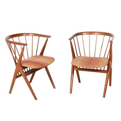 "Helge Sibast for Sibast Møbler Danish Modern ""No. 8"" Teak Dining Chairs, 1950s"