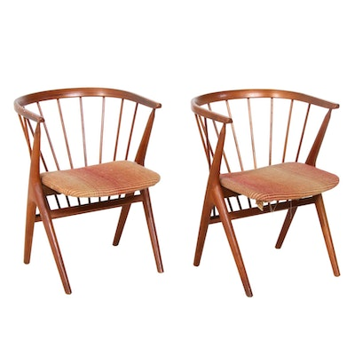 "Helge Sibast for Sibast Møbler Danish Modern ""No. 8"" Teak Dining Chairs, 1950s"