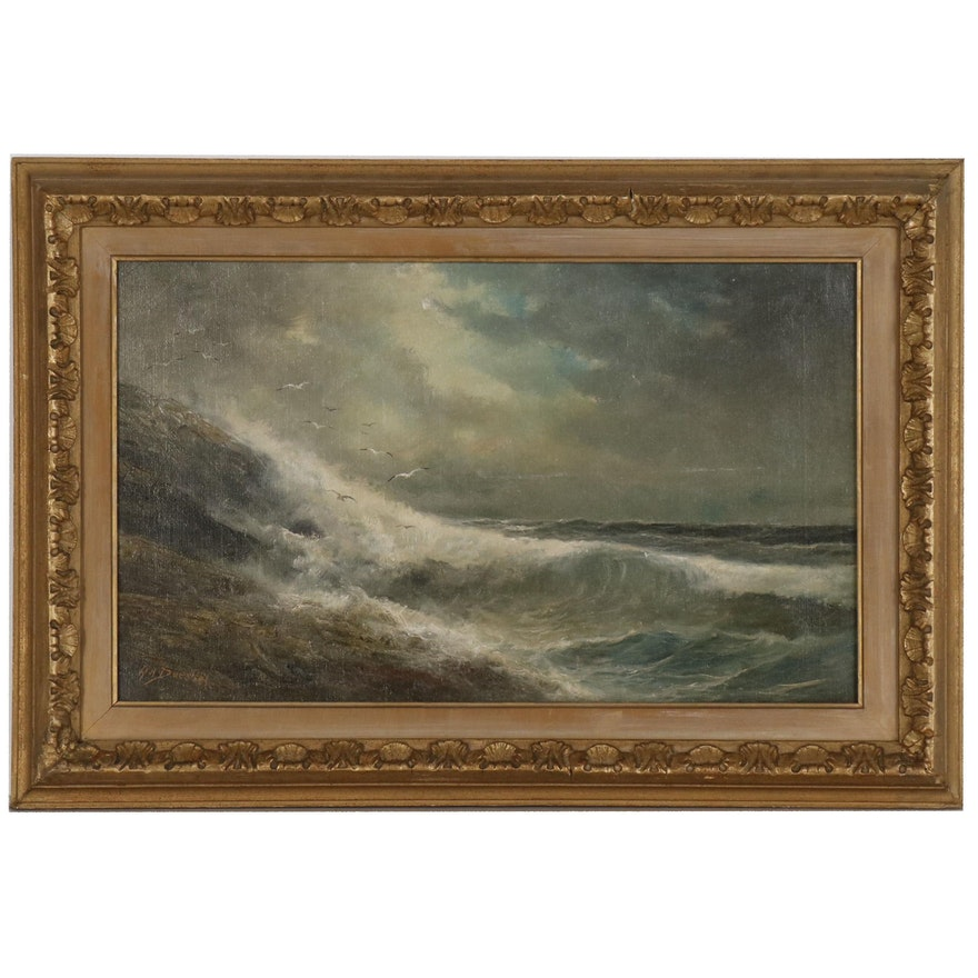 Henry A. Duessel Seascape Oil Painting