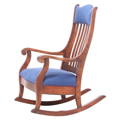 Colonial Revival Birch Rocking Chair, Early 20th Century