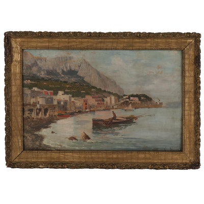 Oil Painting of the Amalfi Coast, Italy