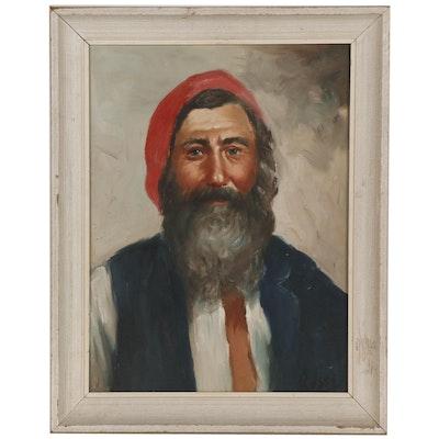Portrait Oil Painting of Bearded Man