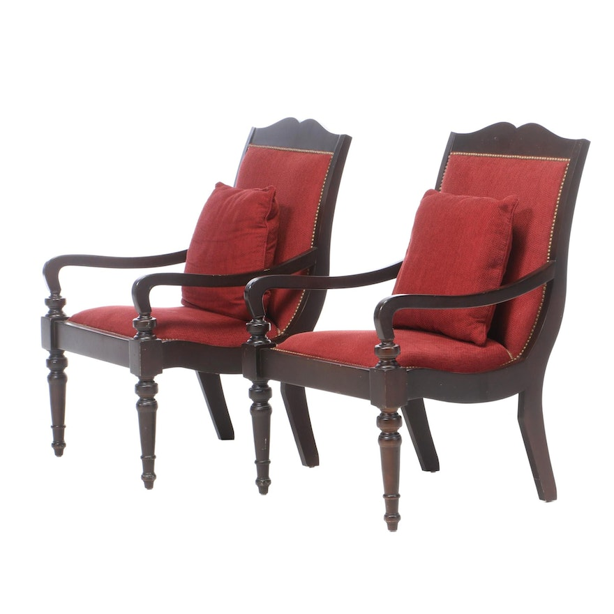 Pair of Anglo-Indian Style Armchairs, Late 20th Century