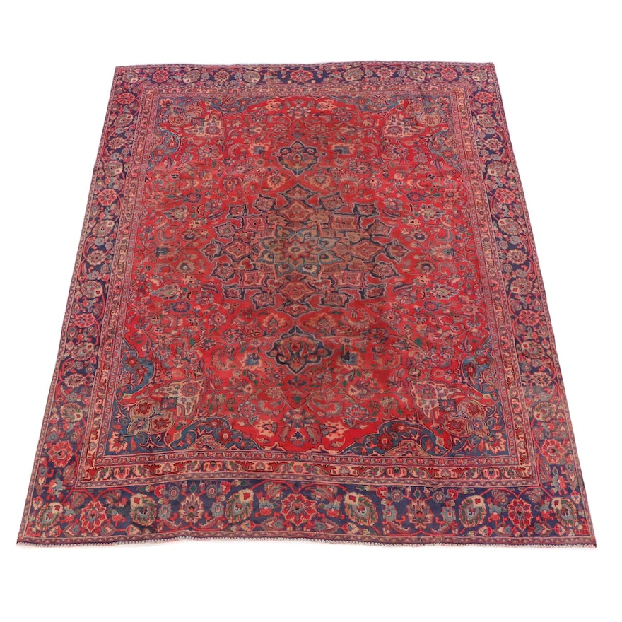 8'6 x 11'8 Hand-Knotted Persian Isfahan Wool Rug