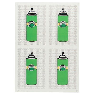Death NYC Graphic Print of Perrier Spray Cans
