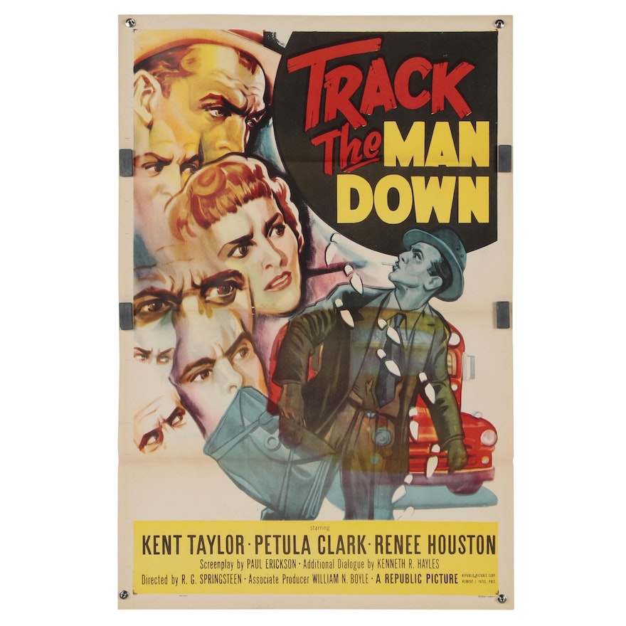 """""""Track the Man Down"""" One Sheet, 1955"""