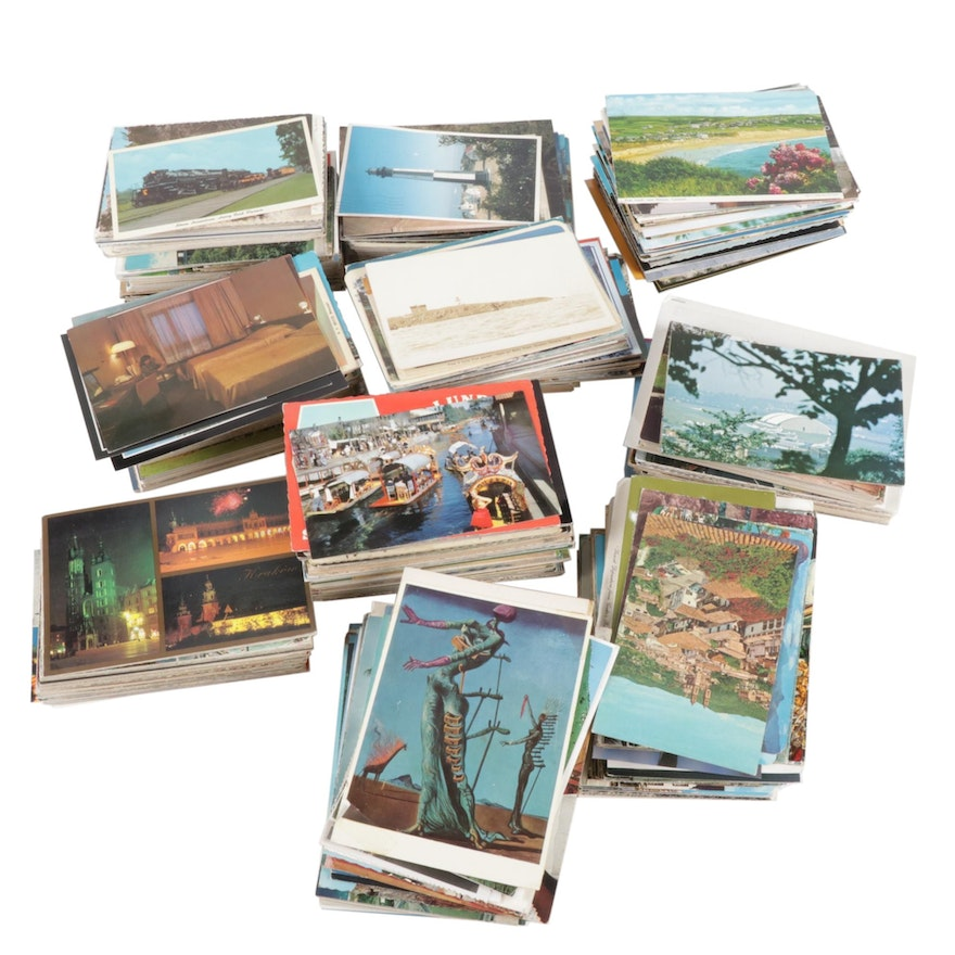 Post Card Collection Including Places and Events, Late 20th Century