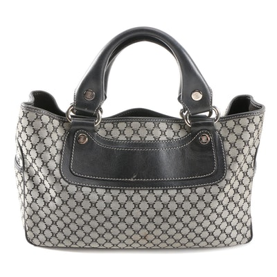 Céline Boogie Bag in Macadam Canvas and Leather
