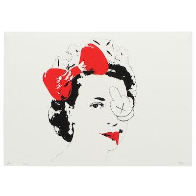 Death NYC Pop Art Offset Print of Queen Elizabeth