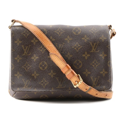 Louis Vuitton Musette Tango Shoulder Bag in Monogram Canvas and Leather