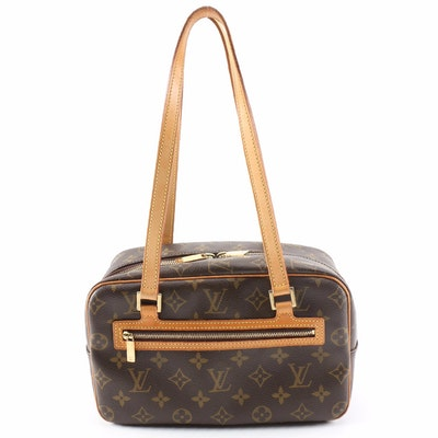 Louis Vuitton Cite MM Shoulder Bag in Monogram Canvas and Vachetta Leather