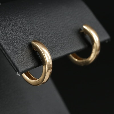 14K Yellow Gold Huggie Earrings