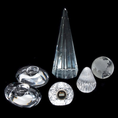 Waterford, Orrefors, and Other Crystal Desk Accessories and Décor