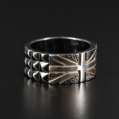 "Stephen Webster ""Alchemy in the UK"" Sterling Silver Black Onyx Band"