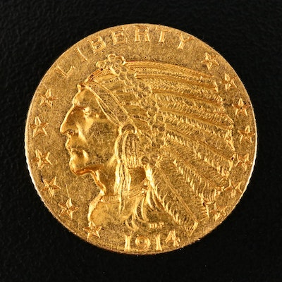 1914 Indian Head $5 Gold Coin