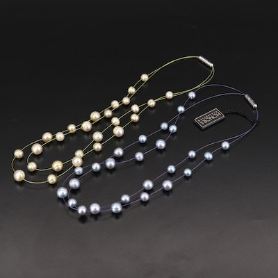 Honora Pearl Station Necklaces