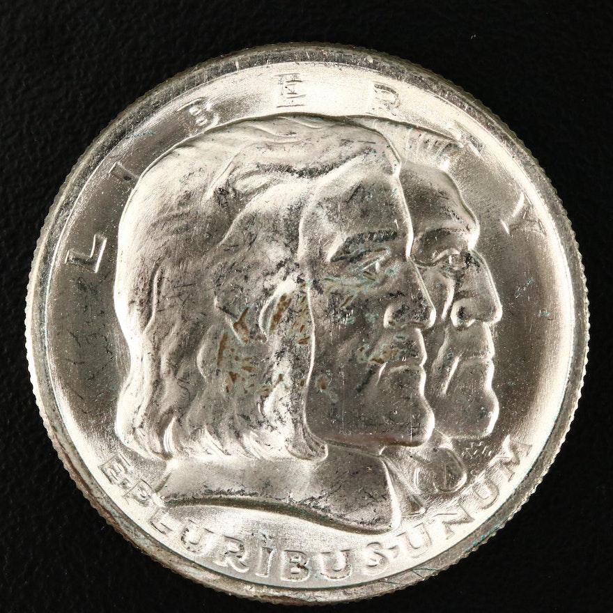 1936 Long Island Tercentenary Commemorative Silver Half Dollar