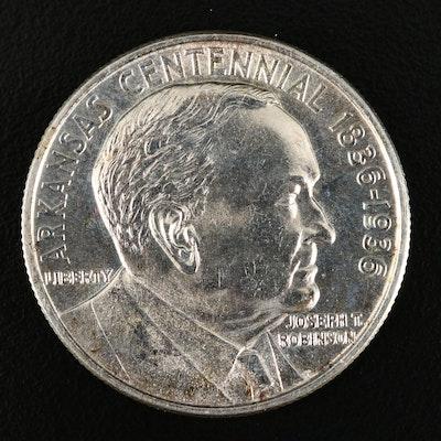 1936 Robinson (Arkansas Centennial) Commemorative Silver Half Dollar