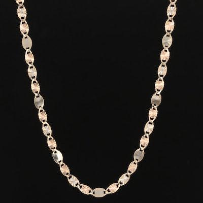 14K Gold Fancy Link Necklace