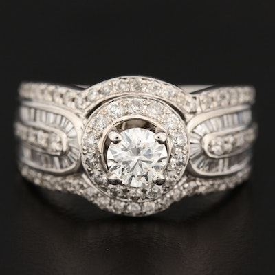 14K White Gold 1.52 CTW Diamond Ring