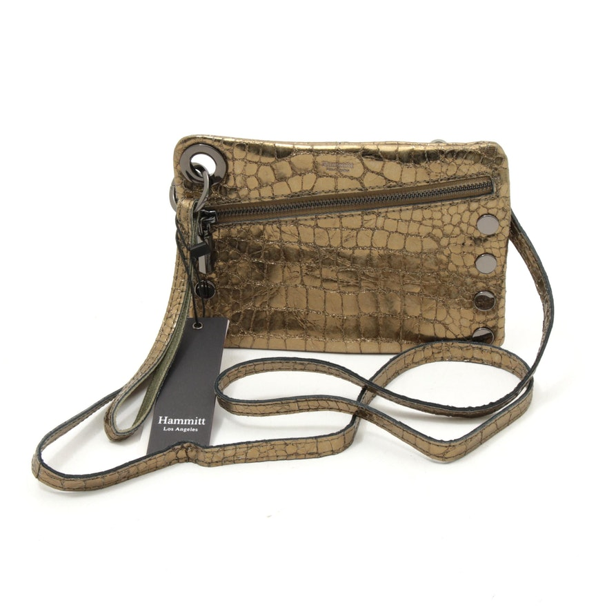 Hammitt Los Angeles Nash Leather Crossbody Bag in Eucalyptus Nilo