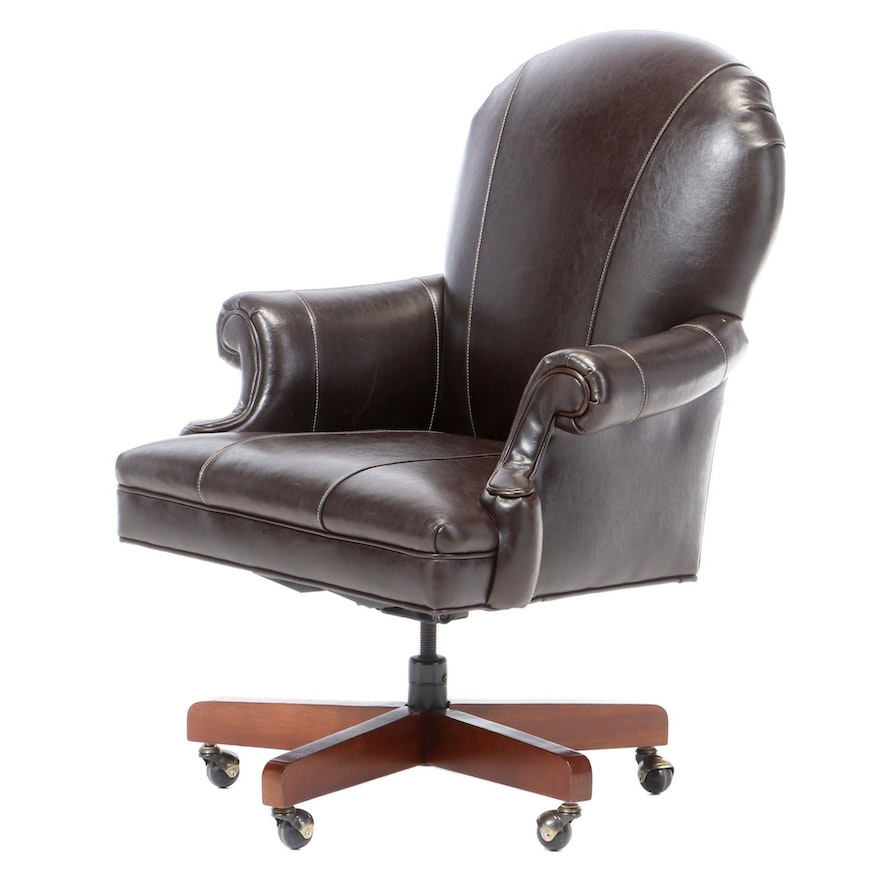 Cambridge Collection Leather Office Chair, Late 20th Century