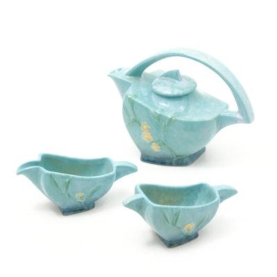 "Roseville Pottery ""Wincraft"" Tea Set, 1948"