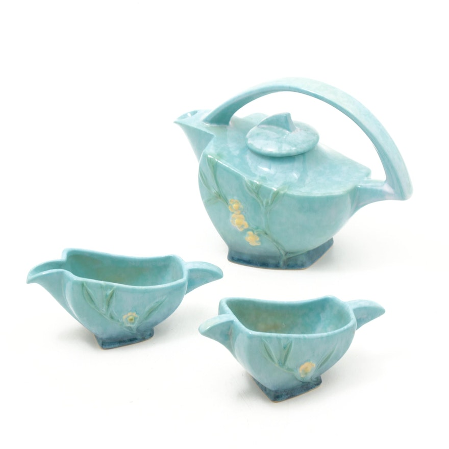 "Roseville Pottery ""Wincraft"" Tea Set, 1948"
