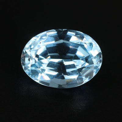 Loose Oval Faceted 25.35 CT Topaz Gemstone