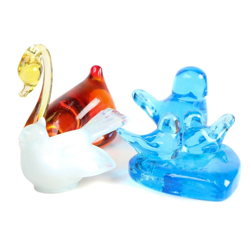 Ron Ray and Mosser Glass Animal Figurines
