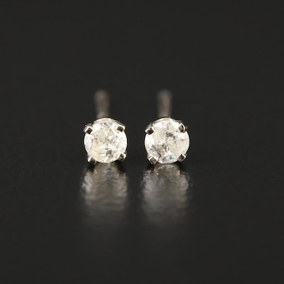 14K White Gold 0.17 CTW Diamond Stud Earrings