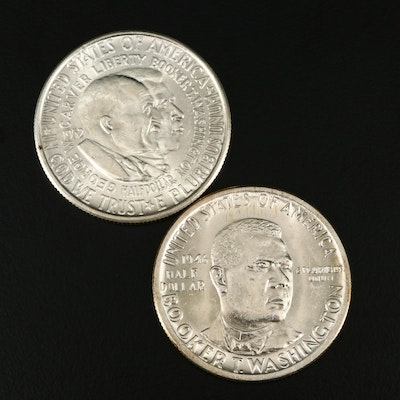 Two Commemorative Silver Half Dollars