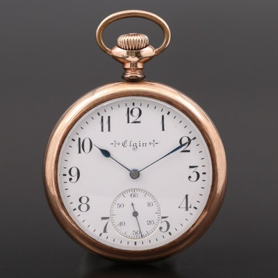 Antique Elgin Gold Filled Pocket Watch, 1910