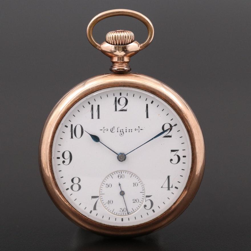 Antique Elgin Gold Filled Pocket Watch, 1910