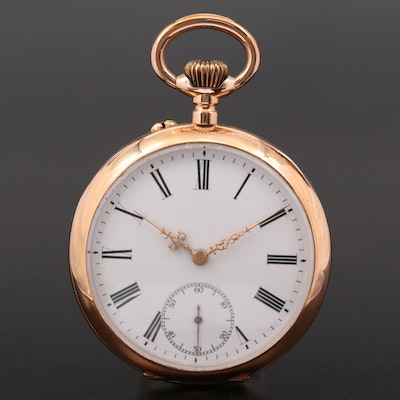 Swiss Monopol 14K Gold Pocket Watch