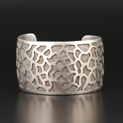 Sterling Silver Textured Cuff Bracelet