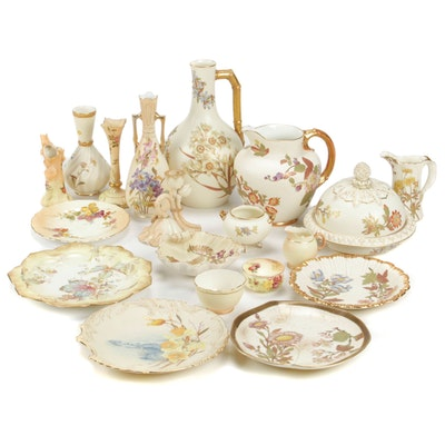 Royal Worcester and Other Ivory Porcelain Tableware, Early 20th Century