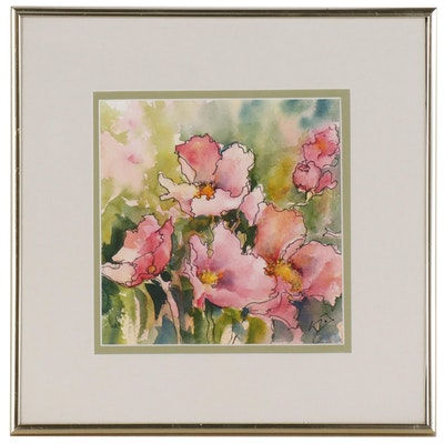 Sue Dion Watercolor Floral Painting