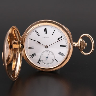 Longines 14K Gold Hunting Case Pocket Watch