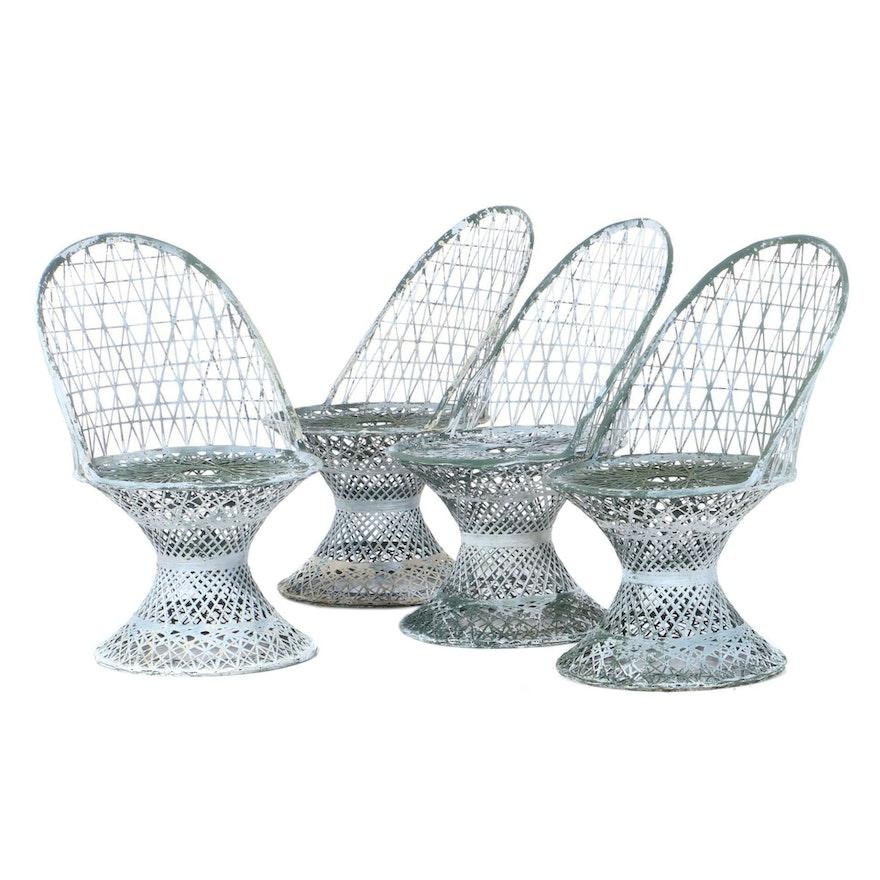 Four Spun Fiberglass Pedestal Chairs, 1960s