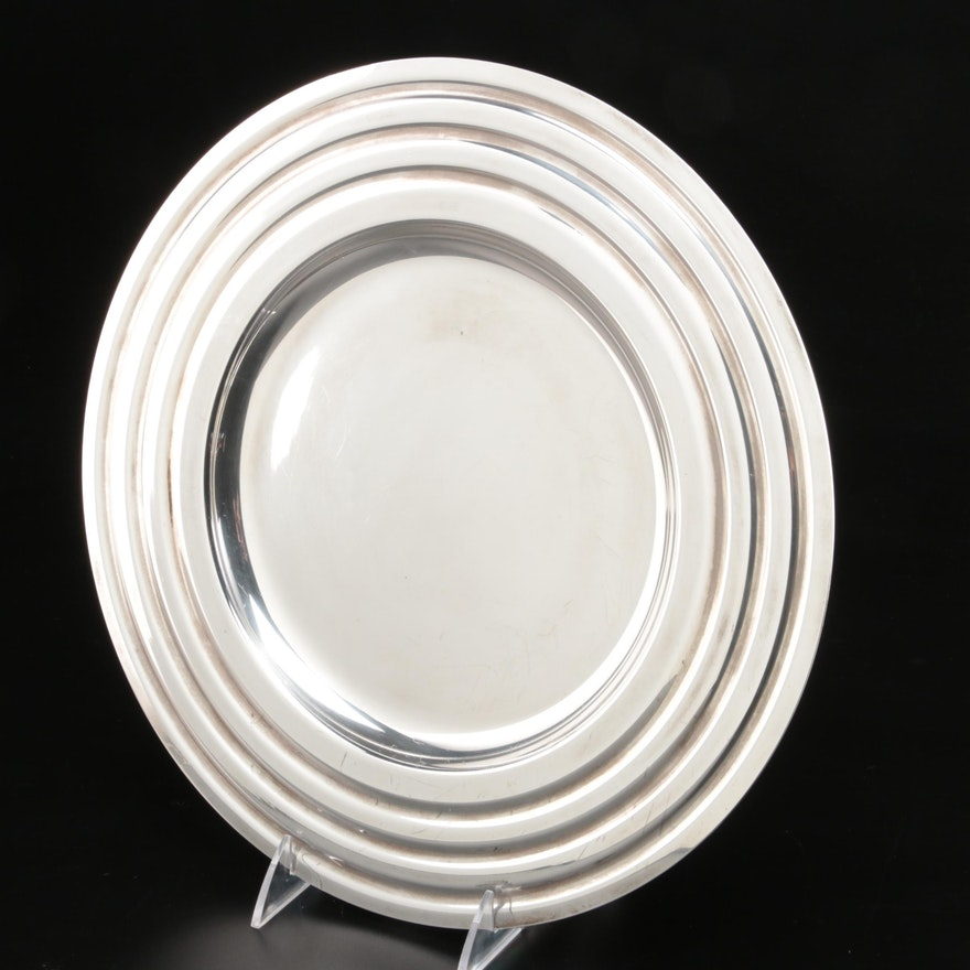 French Christofle Silver Plated Serving Tray